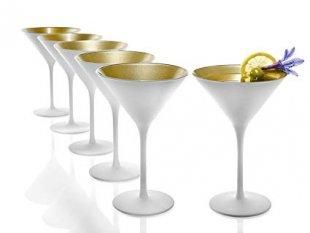 coppa martini olympic vetro bicchiere nero